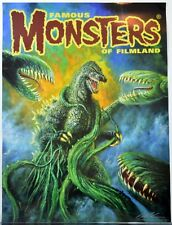 Famous Monsters Filmland POSTER - GODZILLA vs BIOLLANTE Cover #274 HAND SIGNED
