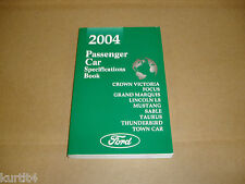 2004 Ford Mustang Taurus Lincoln LS Focus Marauder service specification manual