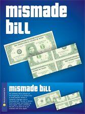MAGIC MISMADE BILL TRICK Fake Money Dollar Gag Cash Bar Close Up Pocket Beginner