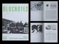BLOCNOTES n°12 1996 -REVUE ART-GUERILLAS, JONAS MEKAS, RENEE GREEN, VALIE EXPORT