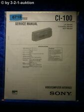 Sony Service Manual CI 100 Video Computer Interface (#6718)