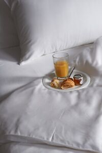 Bamboo super king size bed linen set. 100% bamboo. White Undyed. Antibacterial.