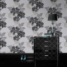 Laurence Llewelyn-Bowen for Graham & Brown Cascada Black/White Wallpaper