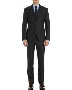 Michael Bastian Gray Label Mens Windowpane Black Suit 38R Pants 31 W