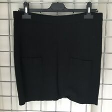 Sonia Rykiel for H&M Black Stretch Cotton Skirt with Pockets Size M - UK10-12