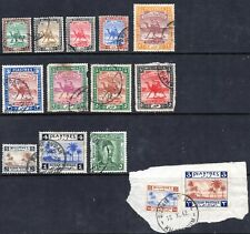 1927-41 Sudan Definitive Issues Used - collection of 15
