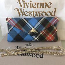 Vivienne Westwood Edinburgh Derby George Flap Wallet Clutch Bag With Gold Chain