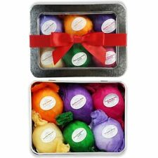 LuxeByLacy Bath Bomb Gift Set 6 Vegan Essential Oil Natural Fizzies Spa Kit