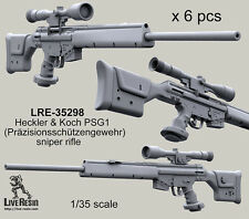 Live Resin 1/35 LRE-35298 Heckler & Koch PSG1 Sniper Rifles