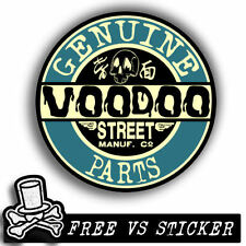 DECAL + KEYCHAIN  by VOODOO STREET™, panel van, splitty, ratlook, hot rod, scoot