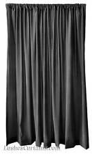Custom Made Rod Pocket Top Drape Solid Black Velvet 120 inch Curtain Long Panel