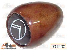 Pommeau levier vitesse BOIS pastille noire  Citroen 2CV DYANE MEHARI  -001400-