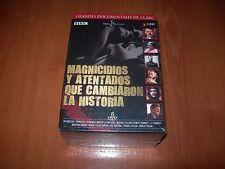 MAGNICIDIOS Y ATENTADOS QUE CAMBIARON LA HISTORIA - PACK 6 DVD ZONA 2 NUEVO