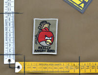 "Ricamata / Embroidered Patch ""Really Angry Bird"" with VELCRO® brand hook"
