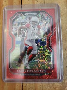 2020 Prizm Larry Fitgerald No Huddle Red Disco ONE OF 50