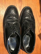 Vtg men's Wing Tips shoes, black leather men shoes size 10D