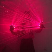 Guanti laser LED rossi mezzi guantini con luce per discoteca da DJ spettacolo