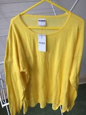 Pull and Bear Summer Yellow Sheer Top Size L Ladies Bikini Zara Group