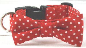 Hundehalsband mit Fliege/Schleife Größe XS bis 30 cm Halsumfang