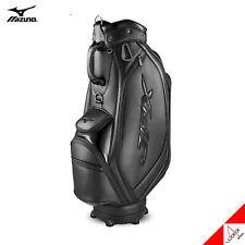 """Mizuno 2020 JPX 005 Men Golf Cart Caddie Bag 9"""" 9lbs 5Way PU Enamel-Black"""