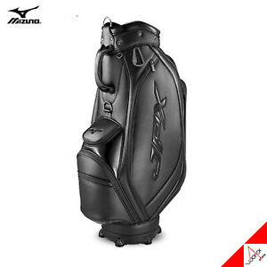 "Mizuno 2020 JPX 005 Men Golf Cart Caddie Bag 9"" 9lbs 5Way PU Enamel-Black"