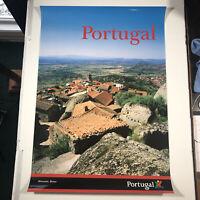 "Portugal Expo '98 VTG Poster 38.5""x 26.5"" Portugal Themed Art Glossy Monsanto"