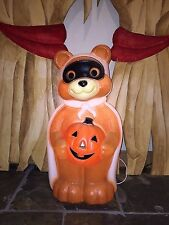 "Vintage Empire 23"" Halloween Lighted Blow Mold Bandit Bear Yard Decoration #3"