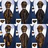 Mens Silk Ascot Cravat Tie Paisley Striped Floral Polka Pocket Square Cufflinks
