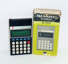 ANCIENNE CALCULATRICE SHARP ELSIMATE EL-8131 BOXED (13x8cm)
