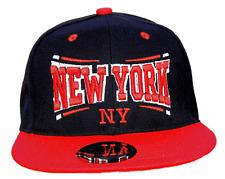 BASECAP Baseball SNAP BACK CAP Schwarz Rot New York Fittet Damen Herren NY 8