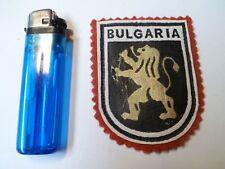 BULGARIE - Ancien écusson en Feutre/tissu - 2 PHOTOS - En bon état
