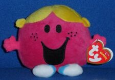 TY LITTLE MISS CHATTERBOX BEANIE BABY - MR MEN & LITTLE MISS - UK EXCL - NEW