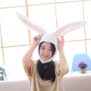 Plush Rabbit Bunny Ears Hat Head Warmer Earflap Cap Photo Prop Gift