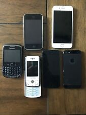 6 Cellphone Lot Blackberry Curve Samsung Slide iPhone S iPhone Lot iPhone 1st
