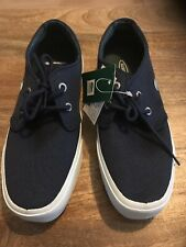 Lacoste Savanna Canvas Casual Ladies Shoes.Size 39 .Navy Lace Up.BNWT