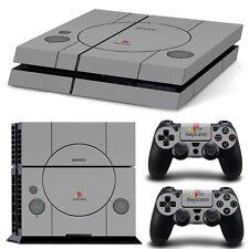 Sony PS4 Playstation 4 Skin Design Aufkleber Schutzfolie Set - Retro PSOne 2