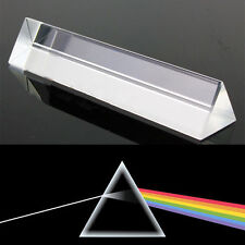 8cm Optical Glass Triple Triangular Prism Physics Teaching Light Spectrum