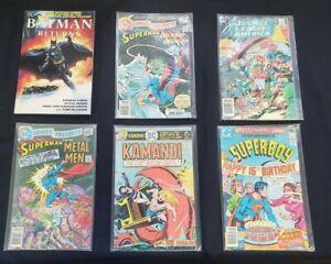 DC MISC 6PC (VG/OB) BATMAN RETURNS, SUPERMAN & METAL MEN, SUPERBOY 1976-92
