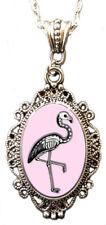 Alkemie SKELEMINGO cameo necklace flamingo skeleton beauty balance grace love