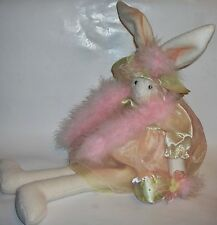 Miss Elle's Collection --White Bunny -Fancy Pink Dress -Artisan Flair, Inc.