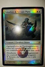 1x italian Foil Puresteel Paladin New Phyrexia paladino di acciaio puro SP-NM x1