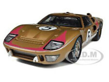 1966 FORD GT-40 MK II #5 GOLD 1/18 DIECAST MODEL CAR SHELBY COLLECTIBLES SC403