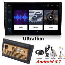 "10.1"" Thin Pad Touch Car Android 8.1 Stereo Radio 2DIN Head GPS Wifi Blueteeth"