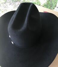 New American Felt Hat 60X Black size 7 1/8 Beaver Fur Felt Cowboy Hat. In Box