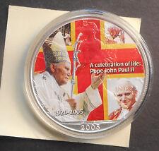 United States US 2005 Pope john Paul II Coloured 1oz silver Eagle Coin