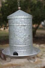 Granary Silo Bird Feeder, Unfinished Metal, Autofill Feeder, 13 inch