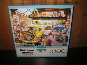 Buffalo Cartoon World Sam's Garage Jigsaw Puzzle 1000 Pc Car Auto Volkswagen VW
