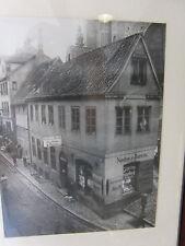 Altes Foto Flensburg Kattsund Holm Richtung Südermarkt gerahmt