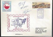 RSA FFC 1986 Johannesburg 100 Exhibition Flight Autographed  1