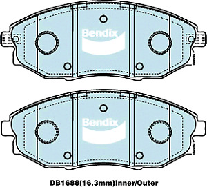 Brake Disc Pad Set Front Bendix DB1688 GCT For HOLDEN EPICA EP 2L 2.5L